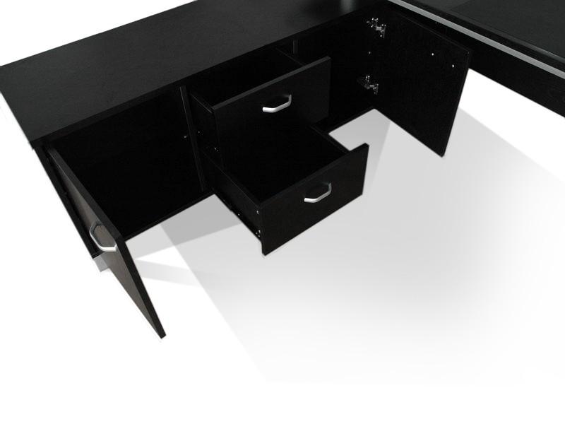 schreibtisch foggia sideboard mit zwei schubladen und zwei t ren. Black Bedroom Furniture Sets. Home Design Ideas