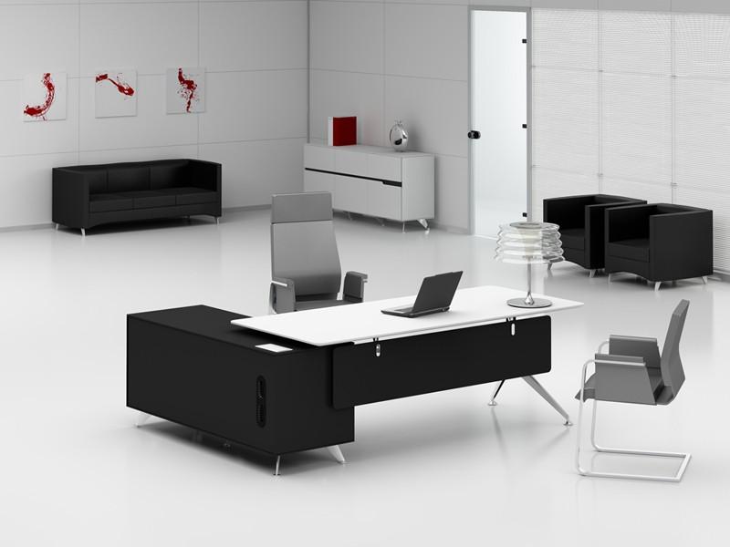 schreibtisch livorno xl schwarz wei. Black Bedroom Furniture Sets. Home Design Ideas