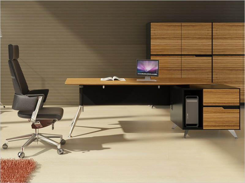 design chef schreibtisch milano l zebrano. Black Bedroom Furniture Sets. Home Design Ideas