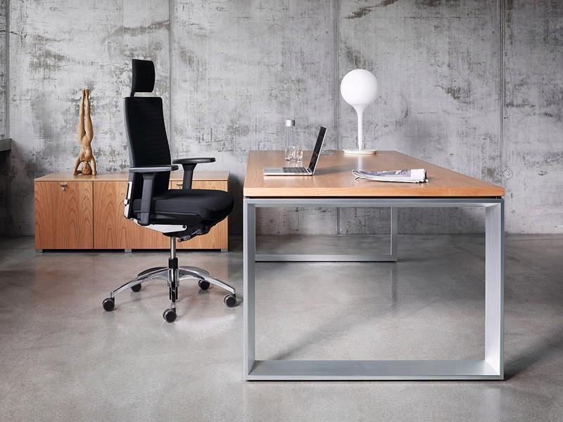 schreibtisch kufengestell penso m petnkx18100 k nig neurath. Black Bedroom Furniture Sets. Home Design Ideas