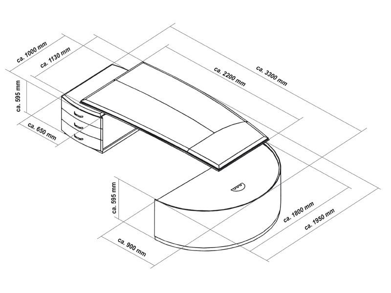 schreibtisch halbrund bei jourtym b rom bel. Black Bedroom Furniture Sets. Home Design Ideas