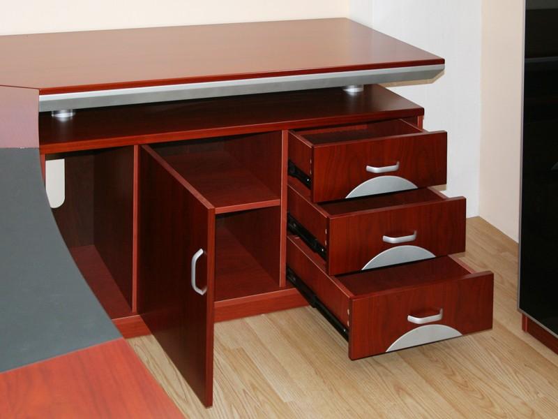 Schreibtisch l form eckschreibtisch holz g nstig kaufen for Schreibtisch l form