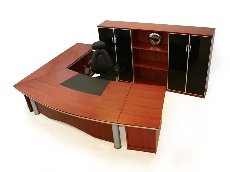 Großer Eckschreibtisch Winkelkombination Schreibtisch