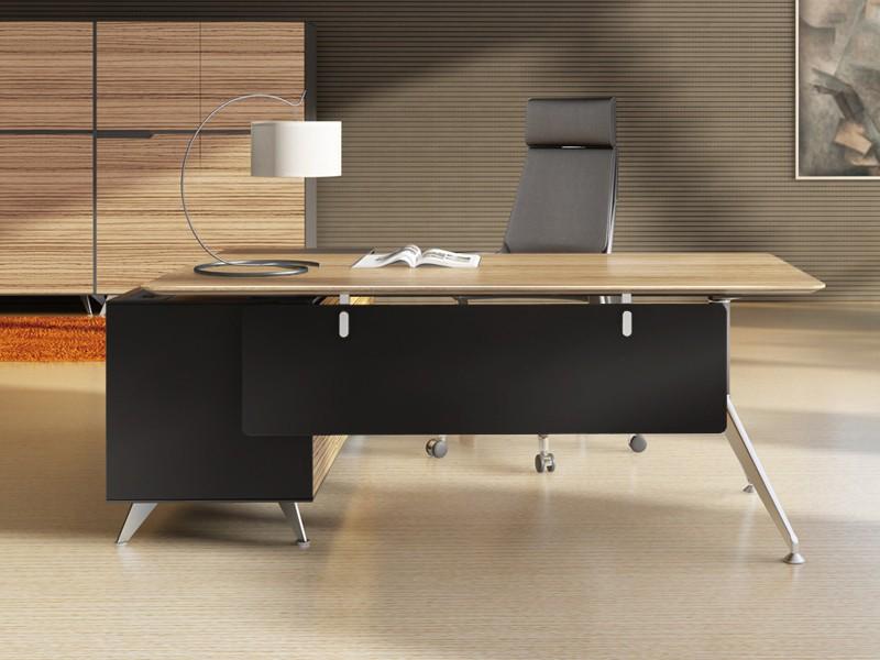 Schreibtisch mit sideboard anbau livorno bei jourtym g nstig for Schreibtisch chef