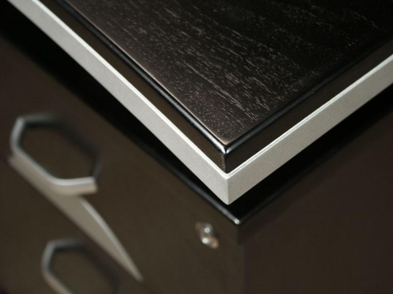 Eck computertisch schreibtisch winkelkombination for Schreibtischplatte schwarz