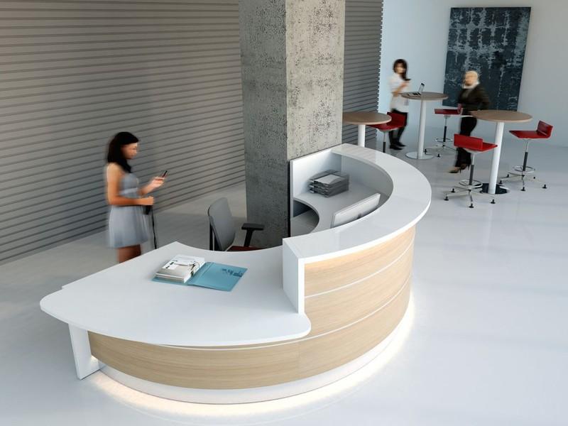 Tresen Design mdd rezeption empfangstheke valde bogenförmig oder rund evtl mit
