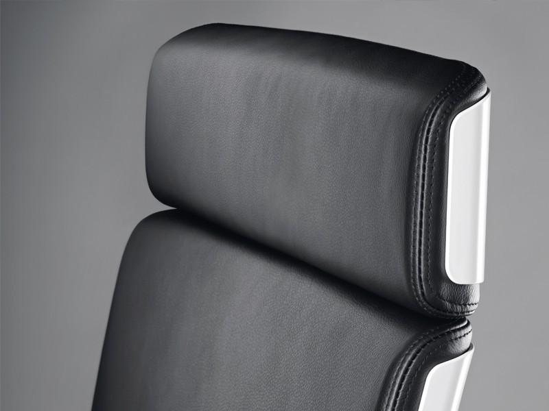 Luxus Drehstuhl CKLHW6; Loungesessel Leder Bezug