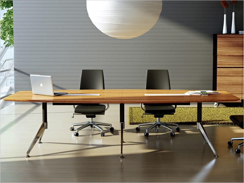 Design konferenztisch milano xxl zebrano for Konferenztisch design