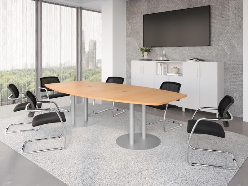 konferenztisch hammerbacher vkt28s f r 10 personen. Black Bedroom Furniture Sets. Home Design Ideas