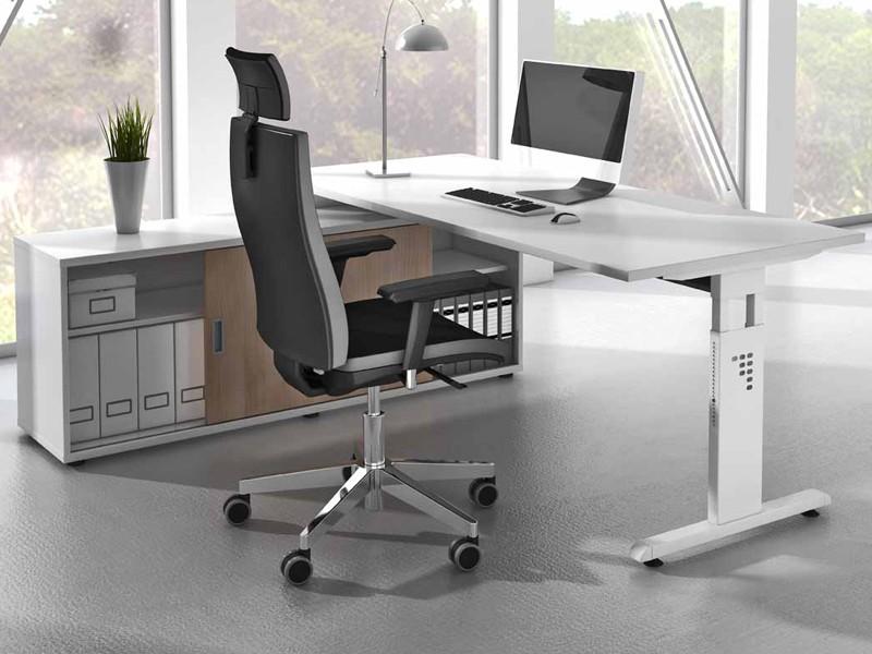 schreibtisch mit sideboard 1758. Black Bedroom Furniture Sets. Home Design Ideas