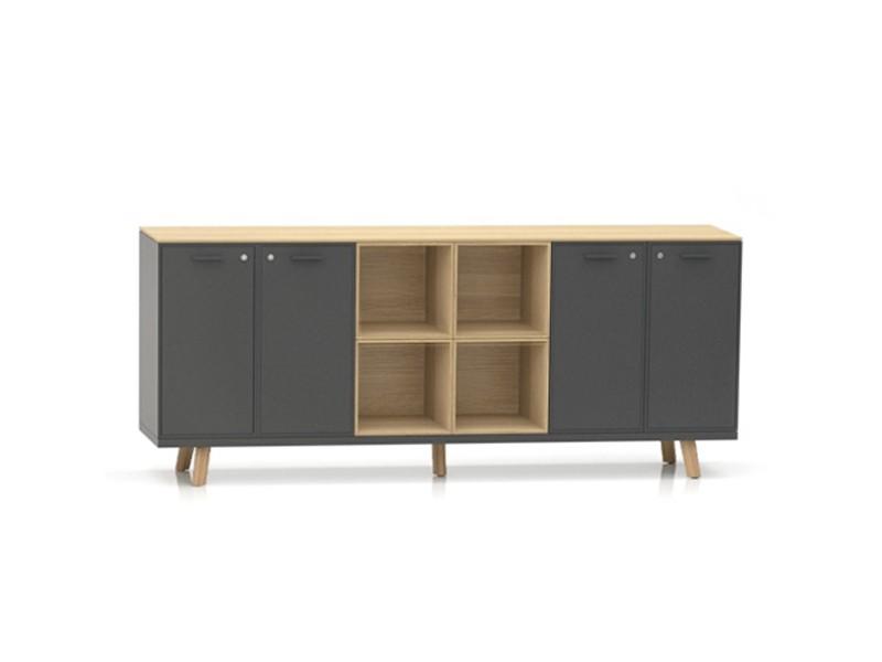 sideboard bralco rail b ro mit offenen f chern jourtym. Black Bedroom Furniture Sets. Home Design Ideas