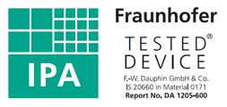 Geprüft durch Fraunhofer-Institut (IPA)