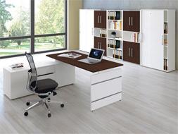 Büromöbel Bergamo, Schreibtisch und Aktenschrank, Sparset